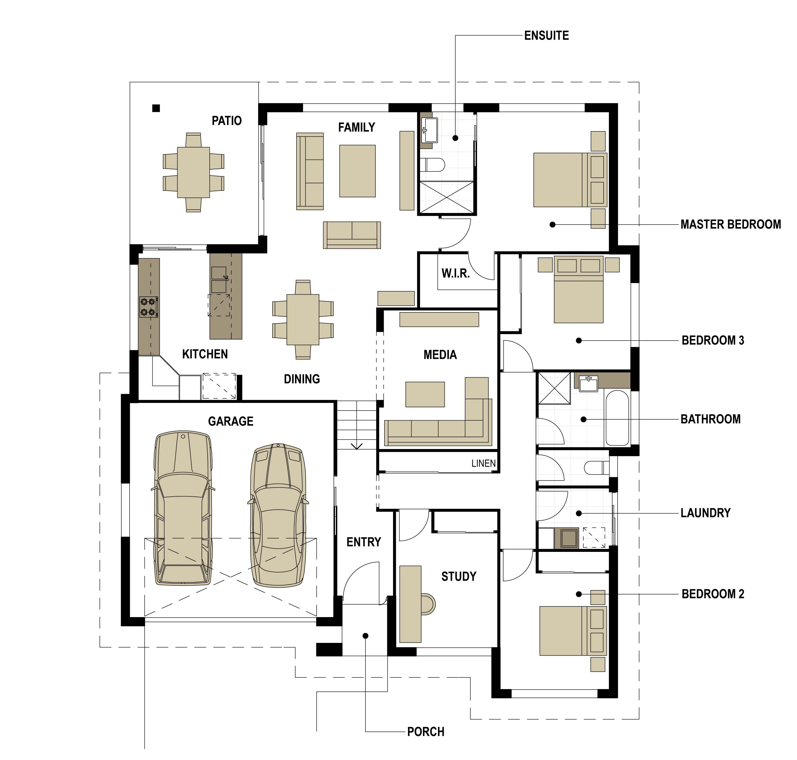 Split level floor plan Smek Design Gold Coast Architectual
